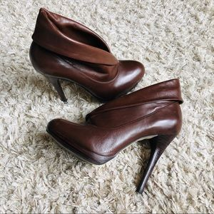 ALDO • Leather High Heel Boots • Brown